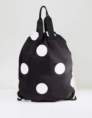 Asos Polka Dot Drawstring Backpack
