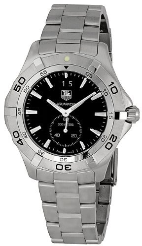 Tag Heuer Men's WAF1014BA0822 Aquaracer Black Dial Watch