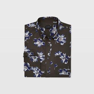Club Monaco Slim Felting Floral Shirt