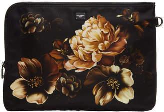 Dolce & Gabbana Black Flower Pouch