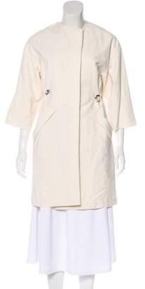 Brunello Cucinelli Silk-Blend Knee-Length Coat