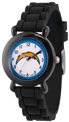 EWatchFactory Gametime Nfl Los Angeles Chargers Kids' Black Plastic Time Teacher Watch
