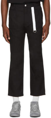 Helmut Lang Black Cropped Canvas Trousers