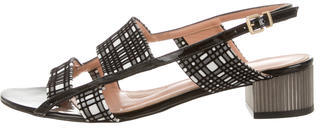 Robert Clergerie Round-Toe Slingback Sandals $100 thestylecure.com