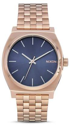 Nixon The Time Teller Rose Gold-Tone Watch, 37mm