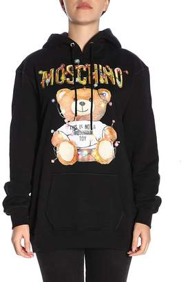 Moschino Couture Sweater Capsule Collection Sweatshirt In Cotton With Teddy Christmas Print