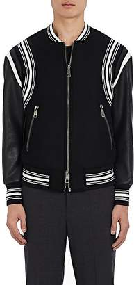 Neil Barrett Men's Wool & Leather Varsity Bomber Jacket