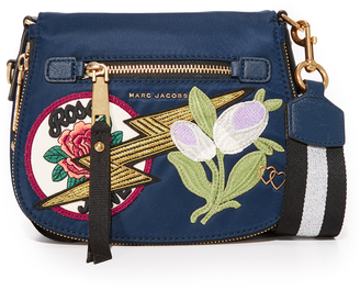 Marc Jacobs Nylon Patchwork Small Nomad Saddle Bag $350 thestylecure.com