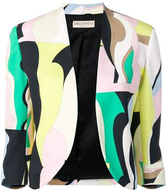 Emilio Pucci Vallauris Print Open Front Blazer