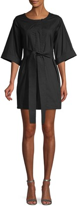 Rebecca Minkoff Self-Tie Cotton Mini Dress