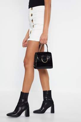 Nasty Gal WANT To Be a Crocstar Faux Leather Crossbody Bag