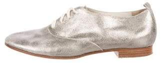 Marc Jacobs Metallic Lace-Up Oxfords