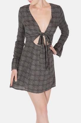 Cotton Candy Tie-Front Print Dress $44 thestylecure.com