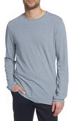 Vince Stripe Long Sleeve Crewneck T-Shirt