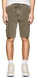 James Perse MEN'S COTTON CARGO SHORTS-GREEN SIZE 1