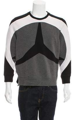 Neil Barrett Colorblock Crew Neck Sweater