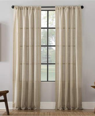 """Lichtenberg Clean Window Modern Check Pattern Anti-Dust Curtain Panel, 52"""" x 63"""""""