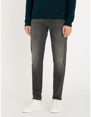 BOSS Slim-fit faded tapered jeans