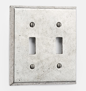 Rejuvenation Pewter Lewis Double Toggle Switchplate