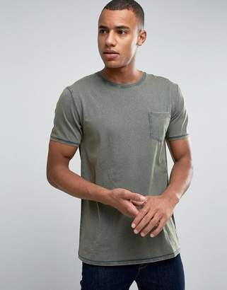 Esprit Slim Fit T-shirt with Pocket in Oil Wash