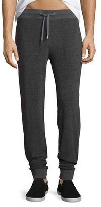 Orlebar Brown Beagi Toweling Terrycloth Sweatpants, Gray $225 thestylecure.com
