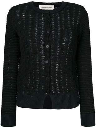 Lamberto Losani open knit patterned cardigan