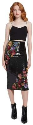 Alice + Olivia Ella Embellished Midi Skirt