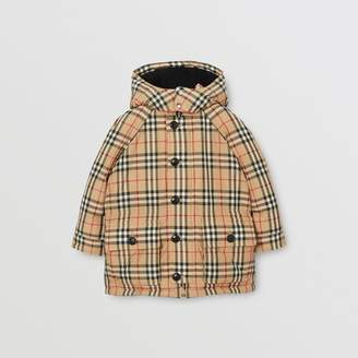 Burberry Childrens Vintage Check Down-filled Hooded Puffer Jacket