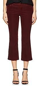 J Brand WOMEN'S SELENA CORDUROY MID-RISE SKINNY CROP PANTS - RED SIZE 24