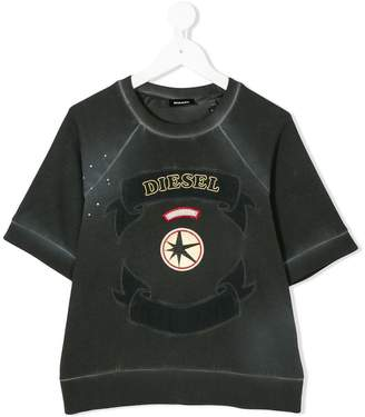 Diesel logo embroidery T-shirt