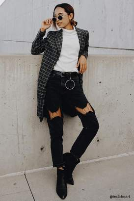 Forever 21 O-Ring Cutout Jeans