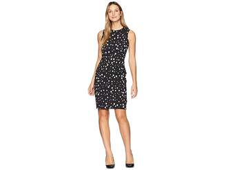 Calvin Klein Dot Print Sheath Dress CD8CNA00