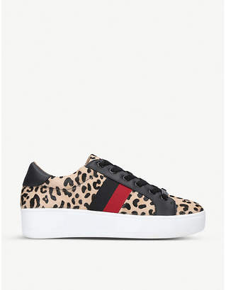 Steve Madden Belle leopard-print leather trainers