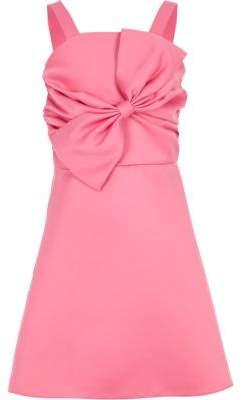 River Island Girls pink satin bow prom dress