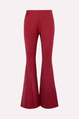 Thierry Mugler Wool-blend Twill Flared Pants