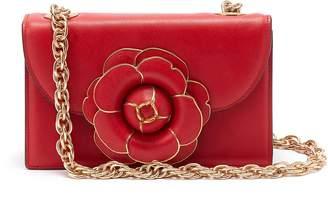 Oscar de la Renta 'TRO' floral appliqué leather crossbody bag