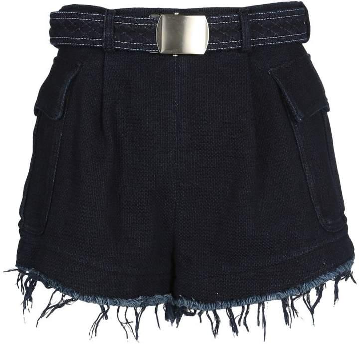 Frayed Belted Cargo Shorts