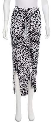 Norma Kamali Kamalikulture x Animal Print Jersey Skirt