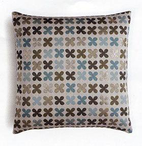 Maharam Quatrefoil Silver Pillow