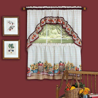Asstd National Brand Farmers Market 3 -pc Rod-Pocket Window Tier and Swag Valance Set