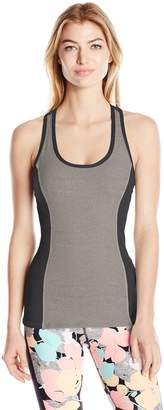 Trina Turk Recreation Women's Color Block Tank Top with Removable Cups and Cut Out Back Detail