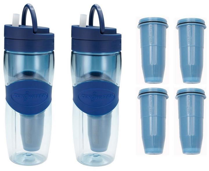 Zero Water Travel Bottle Tumblers with 2-Pack Filters (Set of 2)