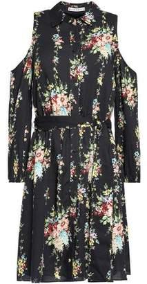 Alice + Olivia Alice+olivia Cold-Shoulder Floral-Print Crepe Mini Dress
