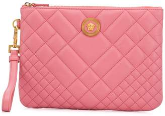 8e21001ccdf8 Versace quilted Medusa clutch