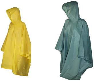 totes ISOTONER Rain Poncho with Hood (Pack of 2)