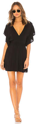 Indah Nile Solid Wrap Mini Dress