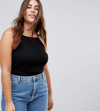 Asos DESIGN Curve cami with square neck in fitted rib