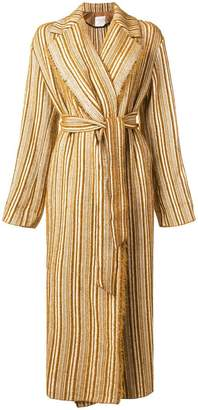 Forte Forte striped trench coat