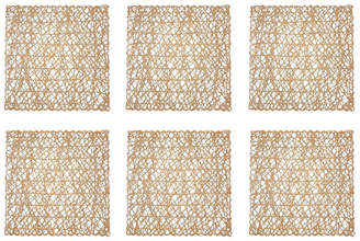 Design Import Woven Paper Square Placemat, Set of 6