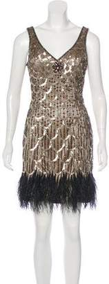 Sue Wong Sequined Mini Dress